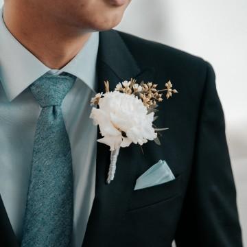 White Carnation Corsage