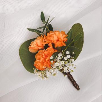 Orange Carnation Corsage